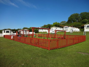 Children's Outdoor Play Area. Glan Gors Holiday Park, Anglesey
